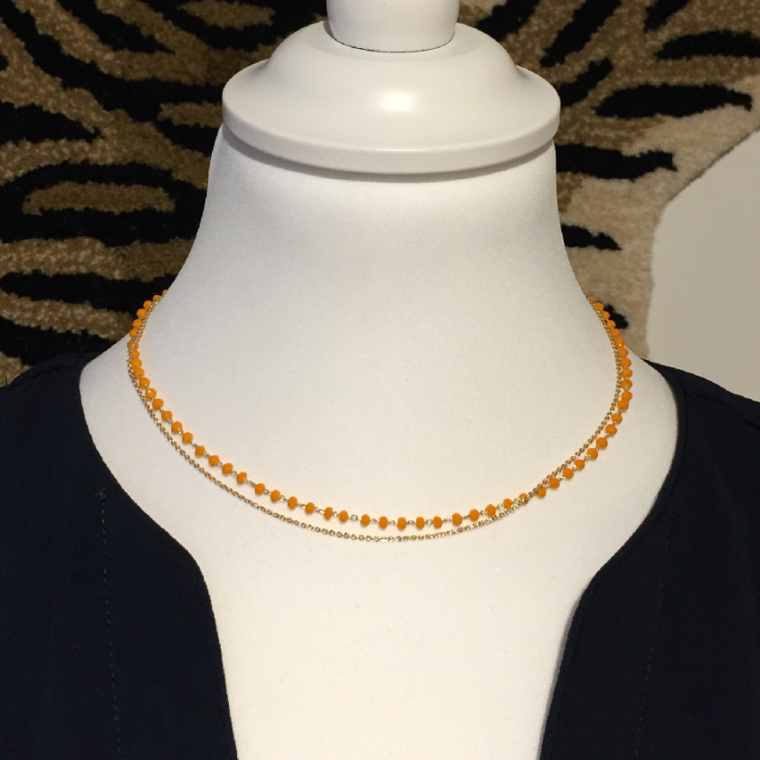 Collier double orange