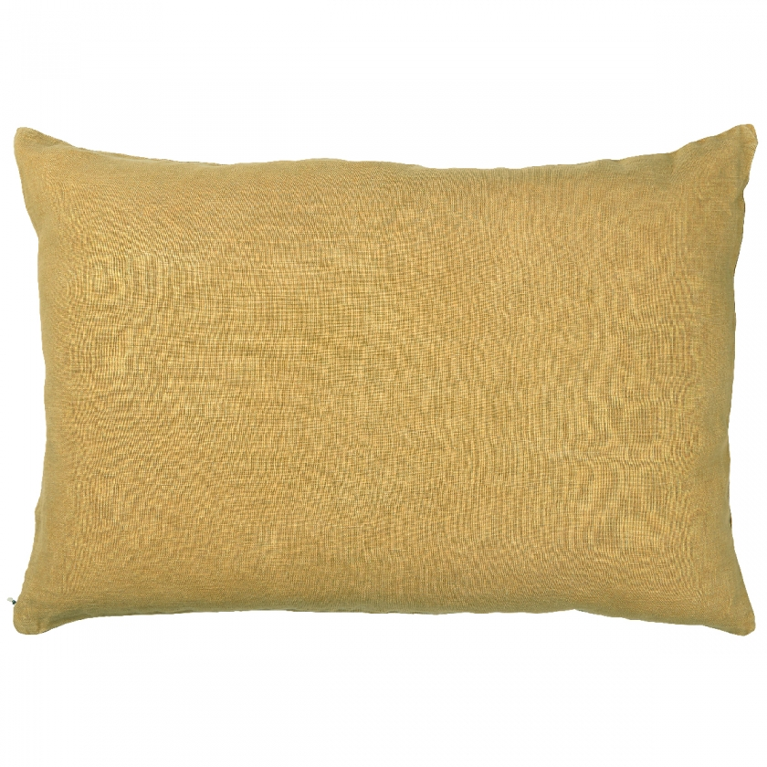 Coussin moutarde