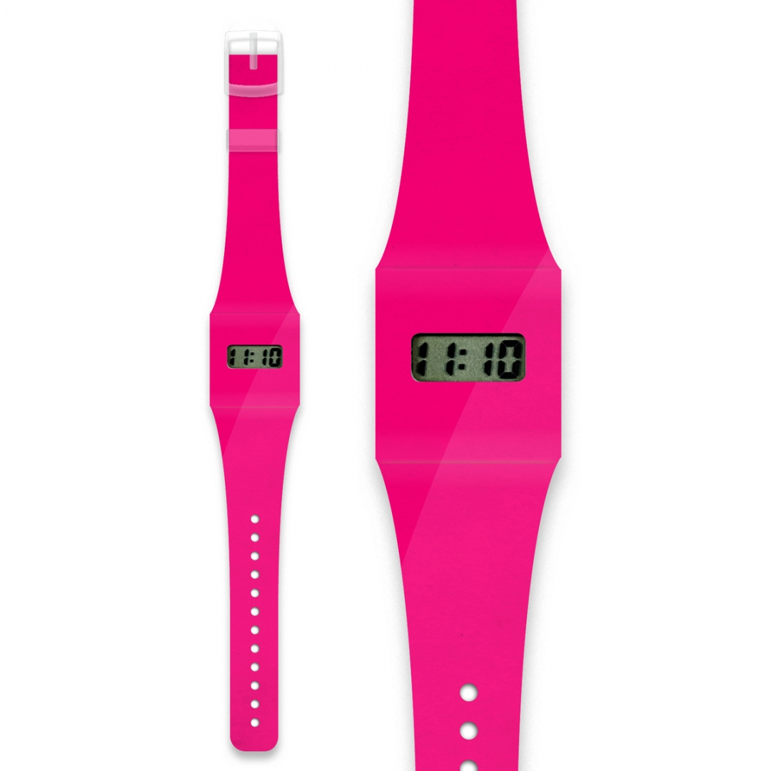 Montre Pappwatch rose fluo