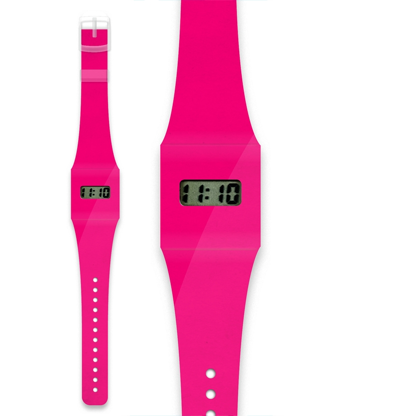 Montre Pappwatch kid Rose fluo